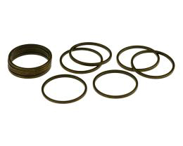 10 Jewellery Connector Rings Bronze Closed 16mm