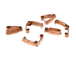 1 Vintage Fold Over Clasps Copper Plated 14mm