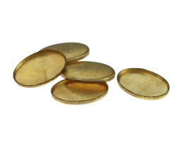 1 Vintage Cabochon Settings Raw Brass Ovals 19mm