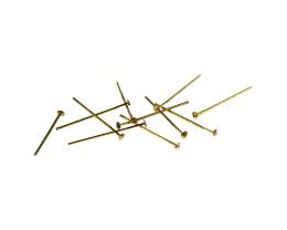 50 Vintage Head Pins Gold Plated Headpins 19mm