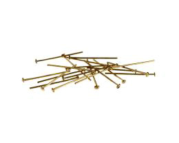 50 Vintage Head Pins Solid Brass Headpins 19mm