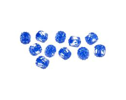 10 Czech Glass Beads Clear Blue Cathedrals 6mm