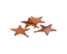 1 Vintage Metal Charms Copper Plated Star Charms 22mm
