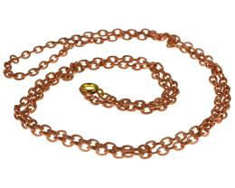 1 Vintage Necklace Chains Copper Plated Cable 70cm