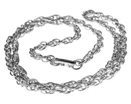 1 Vintage Necklace Chains Silver Plated Rope 62cm