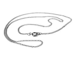 1 Vintage Necklace Chains Silver Plated Curb 41cm