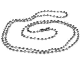 1 Vintage Necklace Chains Silver Plated Ball 52cm