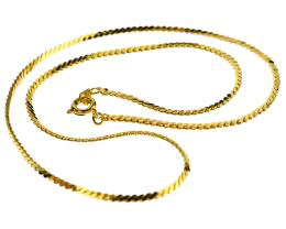1 Vintage Necklace Chains Gold Plated Serpentine