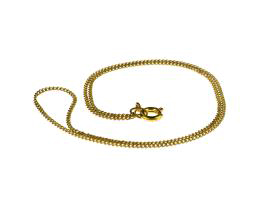 1 Vintage Necklace Chains Gold Plated Curb 33cm