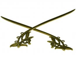 1 Bookmarks Bronze Bookmark Findings Curved 155mm