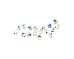 10 Preciosa Crystal Beads Clear Rounds AB 4mm