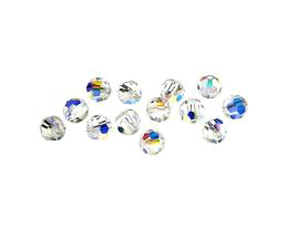 10 Preciosa Crystal Beads Clear Rounds AB 6mm