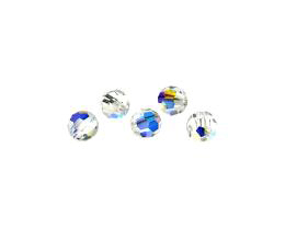 5 Preciosa Crystal Beads Clear Rounds AB 8mm