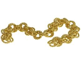10cm Vintage Gold Plated Double Link Chain 8.5mm