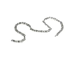10cm Vintage Silver Plated Scroll Chain 2mm x 5mm