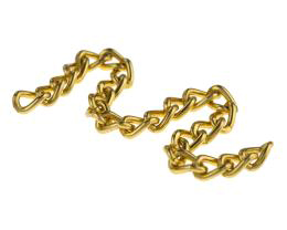 10cm Vintage Gold Curb Chain Aluminium 5mm x 9mm