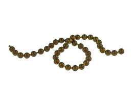 10cm Vintage Brass Ball Chain Closed 3mm
