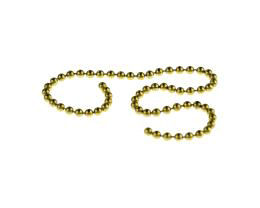 10cm Vintage Brass Ball Chain Closed 2.3mm