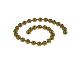 10cm Vintage Brass Ball Chain Closed 3.5mm