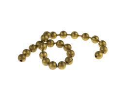 10cm Vintage Brass Ball Chain Closed 4.5mm