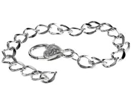 1 Bracelet Chains Silver Plated Curb Chain 20cm