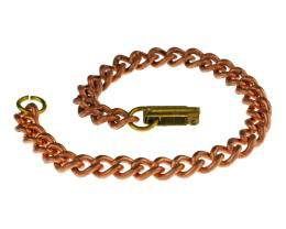 1 Vintage Bracelet Chains Copper Plated Curb 18cm