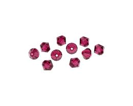10 Czech Glass Beads Fuchsia Pink Machine Cut 6mm