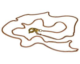1 Vintage Curb Chain Necklaces Copper Plated 45cm
