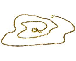 1 Vintage Necklace Chains Brass Curb 33cm