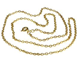 1 Vintage Necklace Chains Gold Plated Cable 56cm