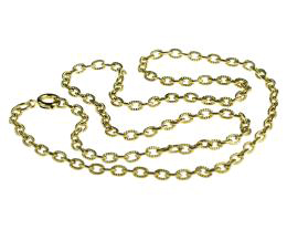 1 Vintage Necklace Chains Gold Plated Cable 45cm