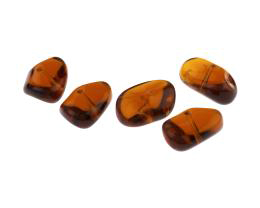 1 Czech Glass Beads Topaz Nugget Bead 12mm x 18mm