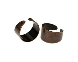 1 Adjustable Ring Blanks Antique Copper Rings 19mm