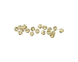 20 Crystal Beads Bronze Faceted Bicone Bead 4mm