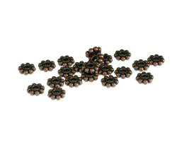 10 Metal Beads Antique Copper Daisy Bead 6.5mm