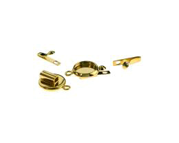 1 Box Clasps Gold Plated Cabochon Clasp 17mm