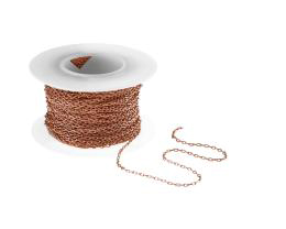 10cm Solid Copper Cable Chain Closed Link 1.3mm