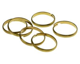 1 Adjustable Ring Blanks Solid Brass Rings 20mm