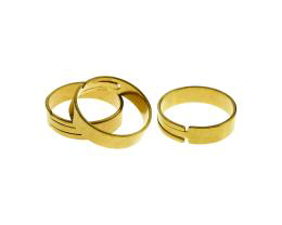 1 Adjustable Ring Blanks Solid Brass Rings 18.5mm