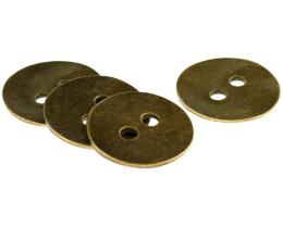 1 Metal Beads Bronze Disc Two Hole Buttons 24mm