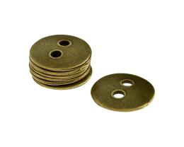 1 Metal Beads Bronze Disc Two Hole Buttons 22mm