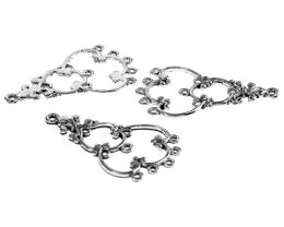2 Chandelier Earring Findings Antique Silver 34mm