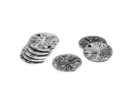 1 Jewellery Connectors Antique Silver Coins 14.5mm