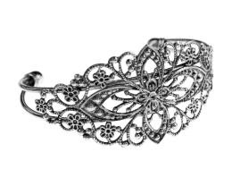 1 Cuff Bracelets Antique Silver Filigree 16.5cm