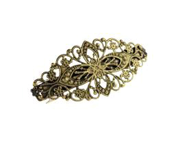 1 Hair Barrette Clips Bronze French Barrettes 81mm