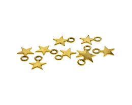 5 Metal Charms Antique Gold Star Charms 11mm