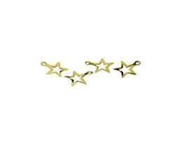 10 Metal Charms Gold Star Charms Open Centres 11mm