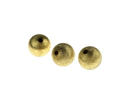 5 Metal Beads Brass Brushed Stardust Bead 12mm