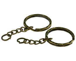 5 Split Ring Key Chains Bronze Keyring Findings 25mm