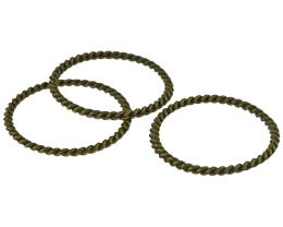 1 Jewellery Connector Rings Bronze Rope Twist 30mm